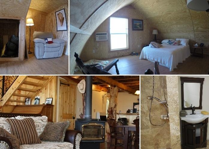 Варианты интерьеров арочных каркасных домиков фирмы Arched Cabins.
