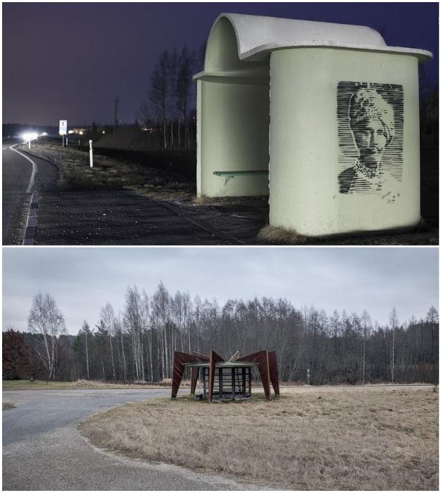 «Фантастические домики» на дорогах Прибалтики вдохновили Кристофера Хервинга на создание фотоколлекции «Советские автобусные остановки» (Пярну и Ниицуку, Эстония). © Christopher Herwig.