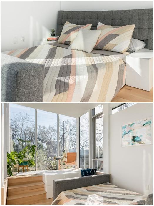 Диван-трансформер легко превращается в двуспальную кровать («Kasita»).   Фото: homecrux.com/ do-it-yourself-best.net.