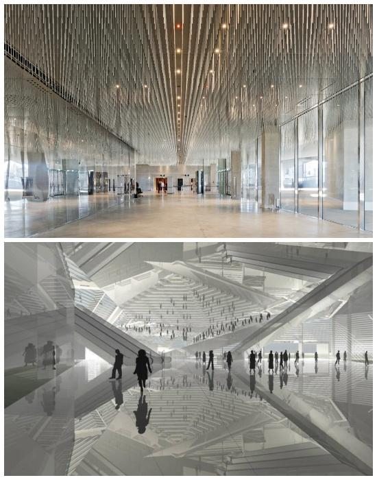 Невероятная экспрессия форм и очертаний чувствуется и в организации залов (Philharmonie de Paris). | Фото: 365mag.ru.