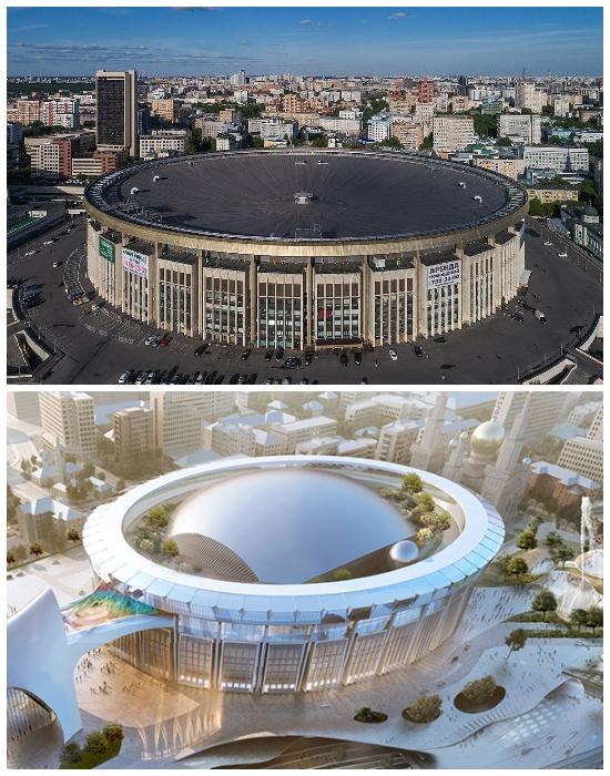 На крыше арены появится купол, в котором разместят концертный зал (Проект СК «Олимпийский», Москва). | Фото: mostrek.ru.
