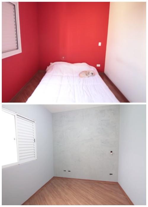 Преображение комнаты за один день упорной работы молодой пары.
