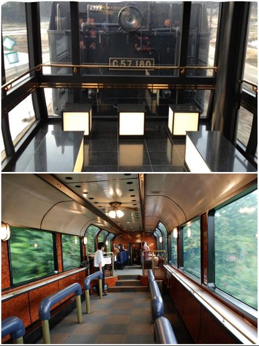 В туристическом поезде «SL Banetsu Monogatari» есть панорамный смотровой вагон и игровая зона для детей с профессиональными аниматорами. | Фото: jreast.co.jp/ en.japantravel.com.