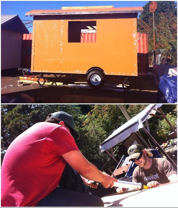 В таком виде домик доставили к месту расположения, где начались отделочные работы («Lucky Penny», США). | Фото: facebook.com/ © Lina Menard.
