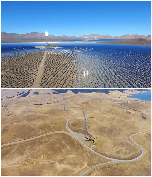 В мегаполисе будущего будут использовать только энергию солнца, ветра и воды (NEOM). | Фото: youtube.com/ © ArchDaily.