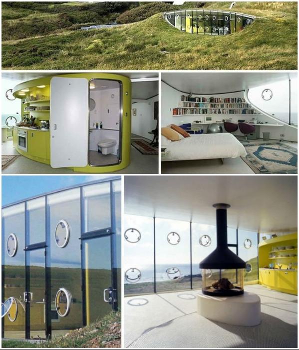 Подземный дом «Malator» станет прекрасным убежищем для современной семьи. | Фото: berlogos.ru/ a-voyage.com.ru.