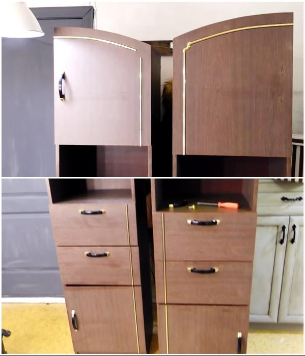 Для создание особого интерьера Елена приобрела старые шкафы для переделки. | Фото: youtube.com/ © DrujkaLena.