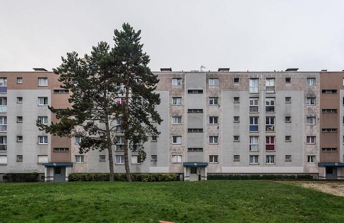 Панельные дома в Амстердаме.