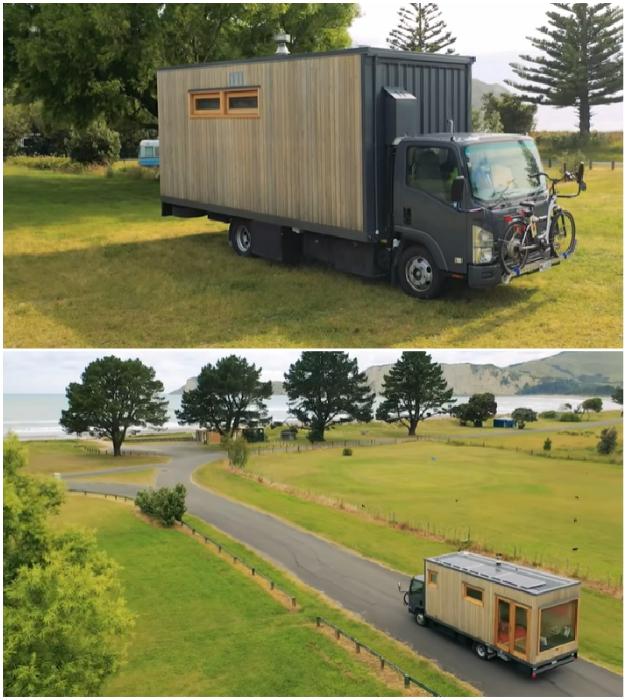 Японский грузовик Isuzu новозеландка превратила в полноценный жилой дом на колесах. | Фото: instagram.com.