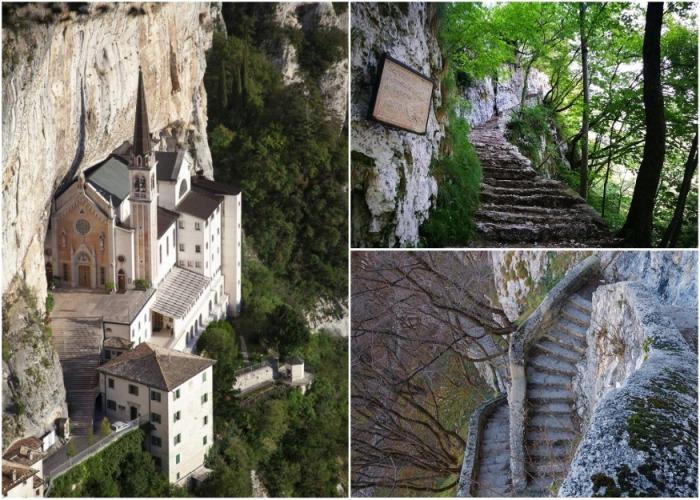 Благодаря своей недоступности церковь так и не была полностью разрушена или осквернена (Santuario Madonna della Corona). | Фото: yael-shoshany.livejournal.com.