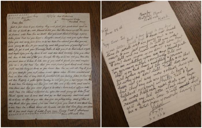 Письма, найденные в чемодане – самый трогательный экспонат, которому на данный момент уже более 100 лет. | Фото: twitter.com/ © DanHillHistory.