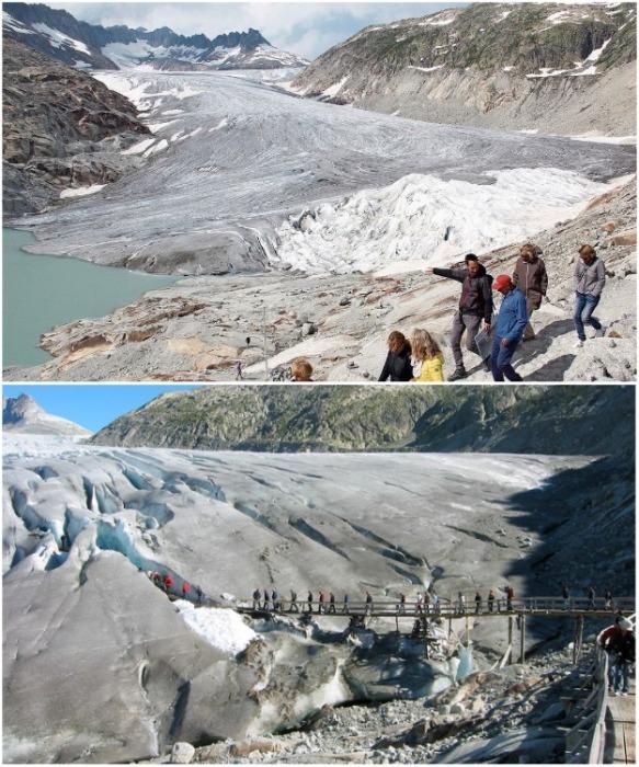 Ледники стали излюбленным местом для экскурсий. | Фото: luzernerzeitung.ch.