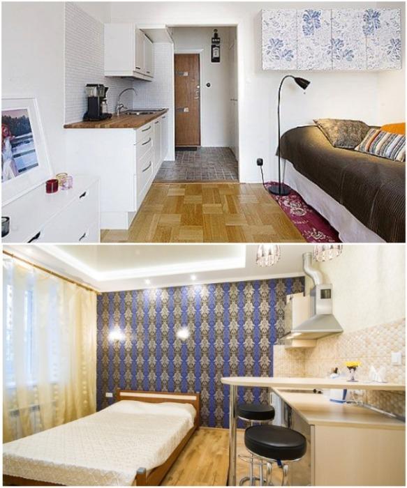 В такой квартире-студии можно жить только одному. | Фото: takprosto.cc.