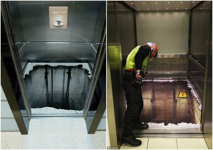 Прокатиться в таком лифте - настоящее испытание на прочность даже для экстремалов.