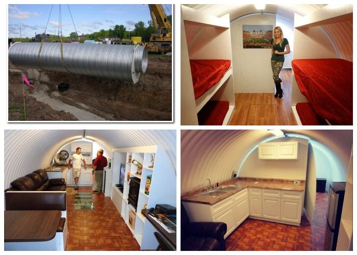 Комфортабельное бомбоубежище можно иметь в собственном дворе (Подземный защитный бункер Atlas).