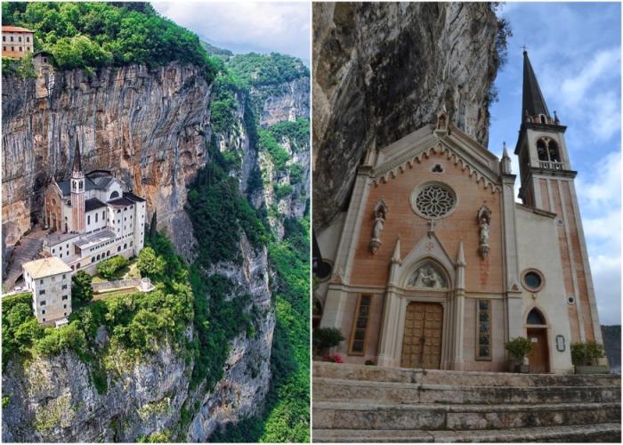 Святилище Богоматери Короны – уникальный храм, расположенный между небом и землей (Италия). | Фото: ilbagnolo.it.