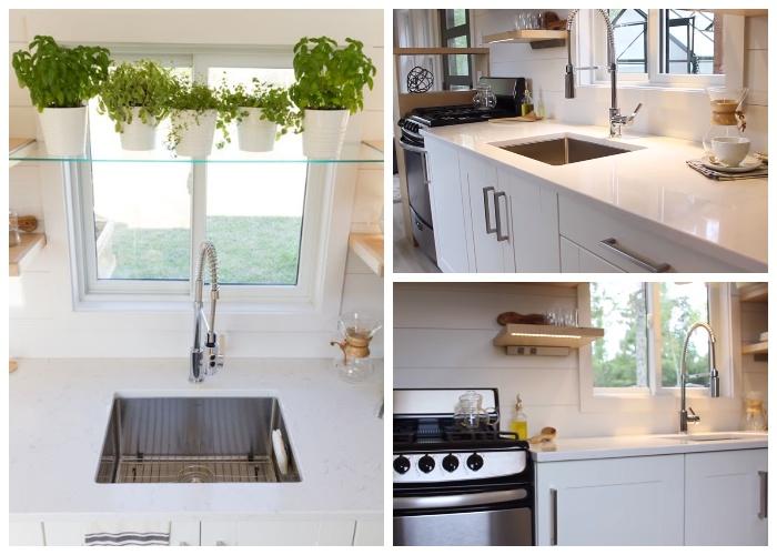 В маленьком доме на колесах «Эльза» удалось оформить полноценную кухню.| Фото: paradijsvogelsmagazine.nl.