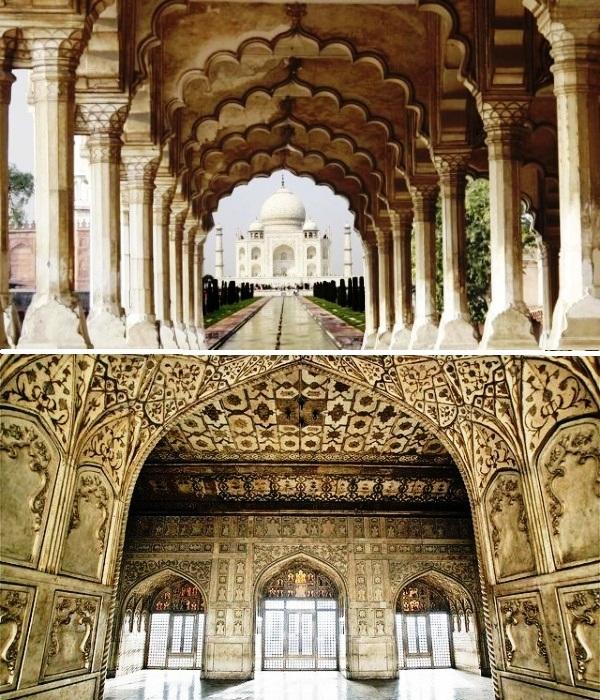 Роскошное украшение интерьера вызывает восторг и восхищение (мавзолей Тадж-Махал, Индия). | Фото: 200traveltips.blogspot.com.