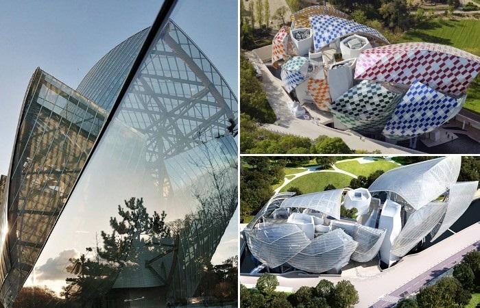 Культурный центр Fondation Louis Vuitton стал ярким образцом современной архитектуры (Париж, Франция).