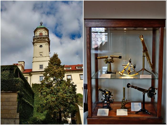 Сейчас мы можем видеть астрономическую башню-обсерваторию, созданную уже в 1722 г. (Клементинум, Прага). | Фото: twinshotel.blogspot.com.