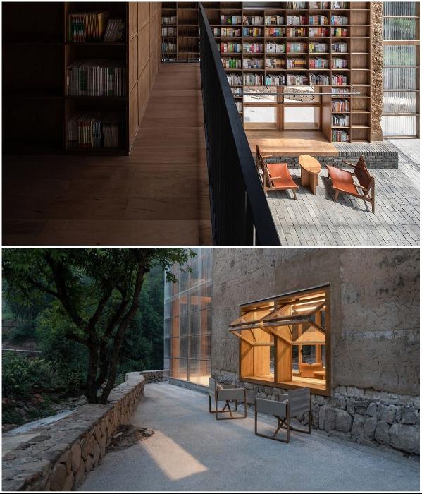 Наслаждаться чтением и отдыхом можно и внутри помещения и на свежем воздухе («Liuyue Capsule Hotel», Китай). | Фото: worldarchitecture.org.