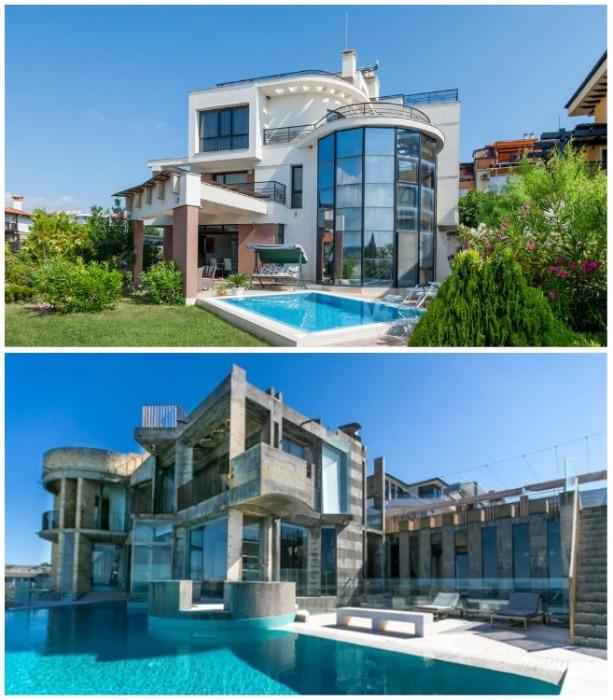 Дом близнецов сможет удивить необычной архитектурой и обилием стеклянных площадей. | Фото: touristam.com.