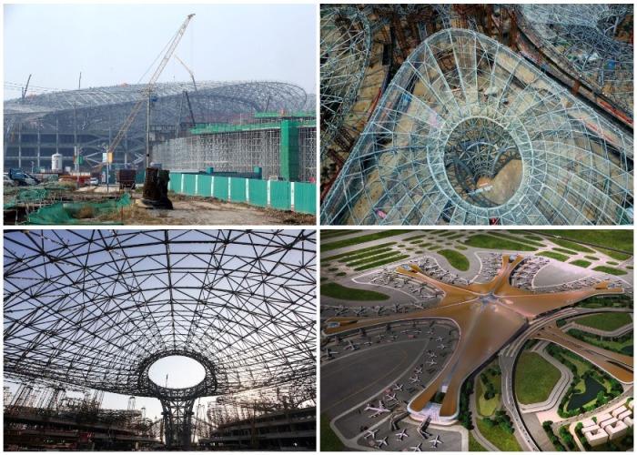 Понадобилось всего три года, чтобы мир увидел очередное достижение Китая (аэропорт «Дасин», Пекин). | Фото: sputnik-georgia.ru.