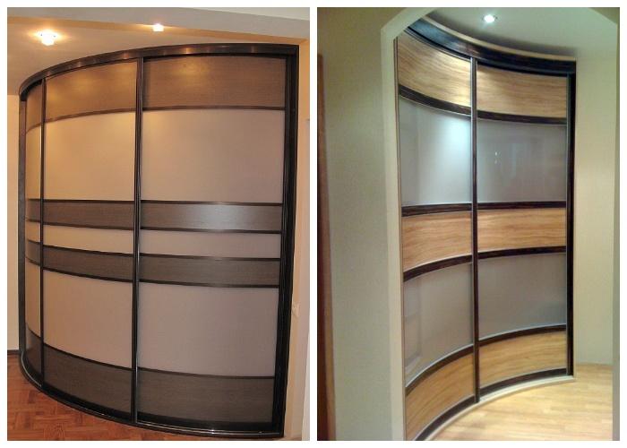 Встроенные радиусные шкафы помогут задействовать каждый уголок квартиры. | Фото: womanadvice.ru.