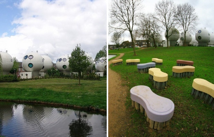 Под строительство футуристического квартала выделили землю на берегу озера (Bolwoningen, Нидерланды).   Фото: vokrugsveta.ua.