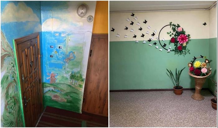 Если нет таланта нарисовать пейзаж, то можно оформить идиллистическую композицию. | Фото: tanjand.livejournal.com.