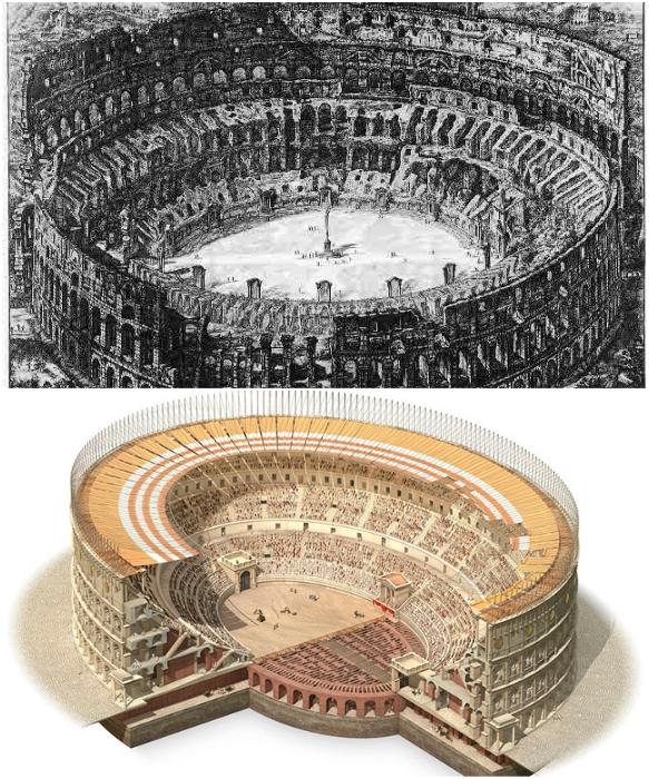 Начиная с V века, Колизей был в запустении, постепенно разрушался и разворовывался. | Фото: puteshestvovat.com.