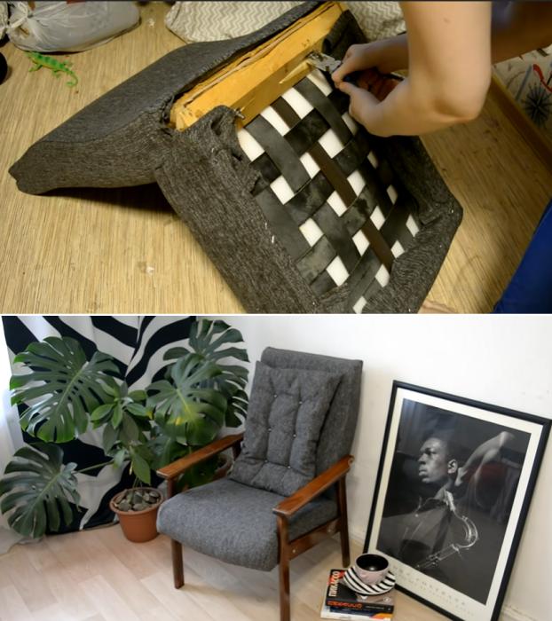 Вот так выглядит кресло после реставрации и сборки. | Фото: youtube.com/ © Светлана Анисимова.