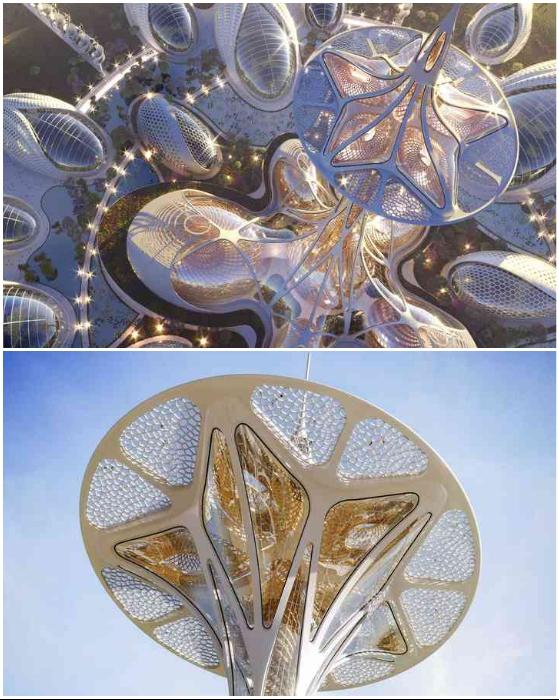 Центральным объектом парка Pollinator Park станет башня со смотровой площадкой (концепт Vincent Callebaut Architectures).