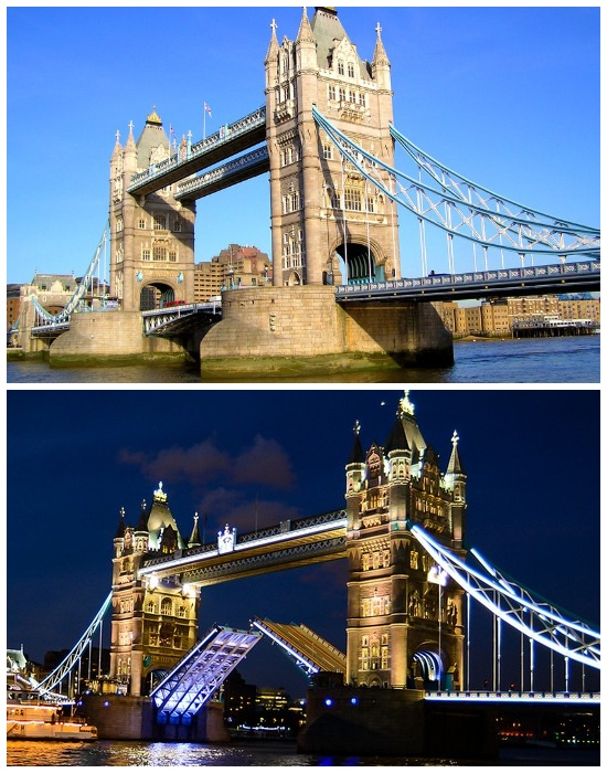 С 1982 года пешеходные галереи используются только как смотровая площадка и музей (Тауэрский мост, Великобритания). | Фото: tisamsebegid.ru.