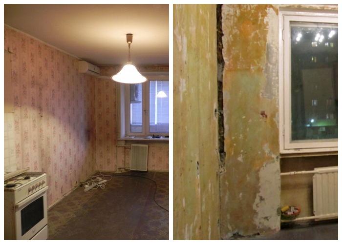 Кухня однокомнатной квартиры до полной реконструкции.