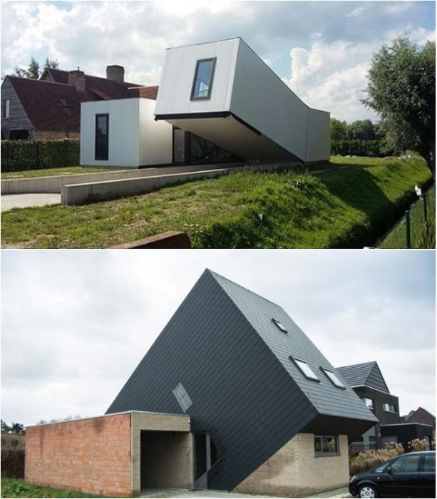 Чтобы выделиться, даже дом решили поставить с ног на голову. | Фото: pinterest.com.