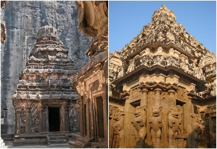 Скальные храмы Эллоры – рукотворное чудо Индии.