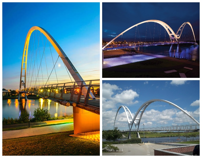 Мост Infinity оборудован инновационной системой освещения (Стоктон-он-Тис, Англия).