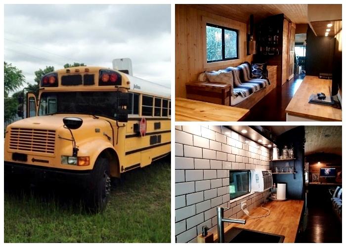 Американец вдохнул новую жизнь в старый школьный автобус.