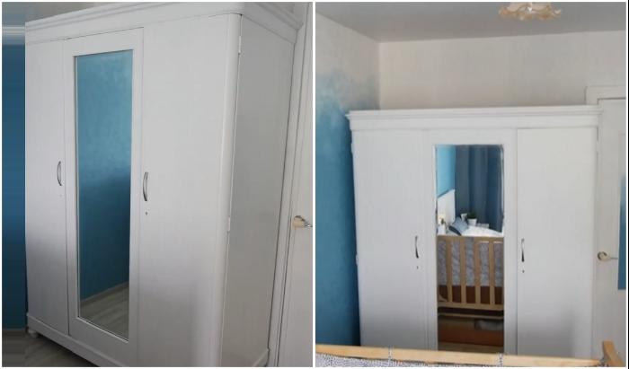 Сбылась мечта хозяйки, теперь в ее спальне есть белый добротный шкаф. © Olga Kotova DIY.