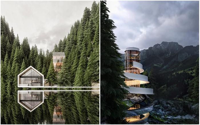 Дизайнерский дом посреди природы – мечта любого городского жителя.