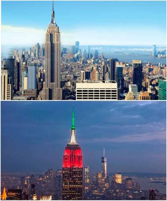 Эмпайр Стейт Билдинг – самый знаменитый и посещаемый небоскреб Нью-Йорка (США). | Фото: tonkosti.ru.