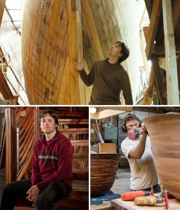 Нати Кацофф – используя свои знания в области кораблестроения, превращает традиционные деревянные ванны в шедевры. | Фото: seattlerefined.com.