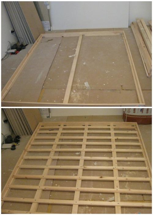 Для создания каркаса понадобились деревянные брусья и планки. | Фото: youtube.com/ Anna_Studio.