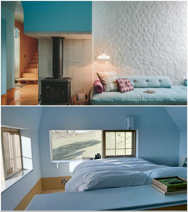 Резиденция одного из владельцев дома оформлена в голубых тонах («Longhouse», Австралия).