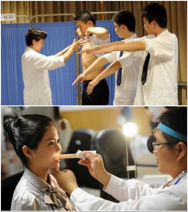 У китайских бортпроводников здоровье должно быть отменным, а цвет зубов соответствовать нормам. | Фото: spletnik.ru/ mega-people.com.