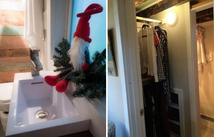 В крошечном доме есть полноценная ванная и гардеробная (My Empty Nest»).   Фото: new.neveroyatno.website.