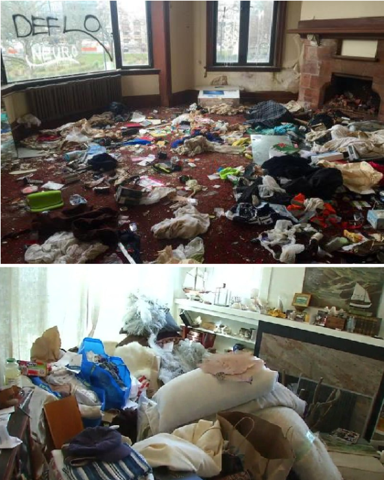 После «хозяйствования» захватчиков в доме остается лишь разруха. | Фото: bankfs.ru/ usa.one.