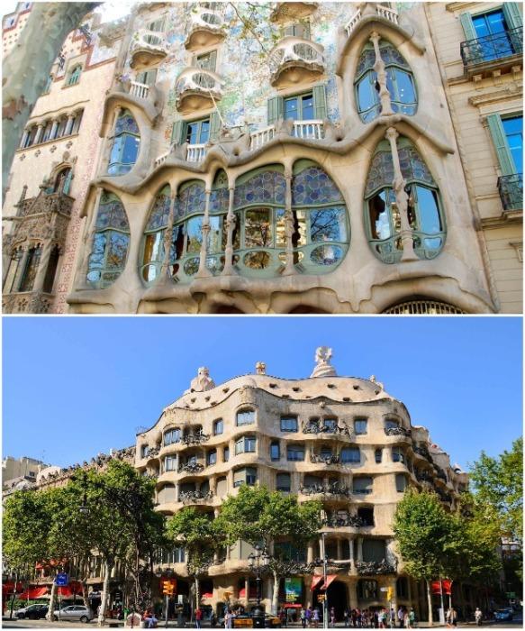 Великие творения испанского архитектора Гауди созданы в стиле модерн. | Фото: worlds-interior.ru.