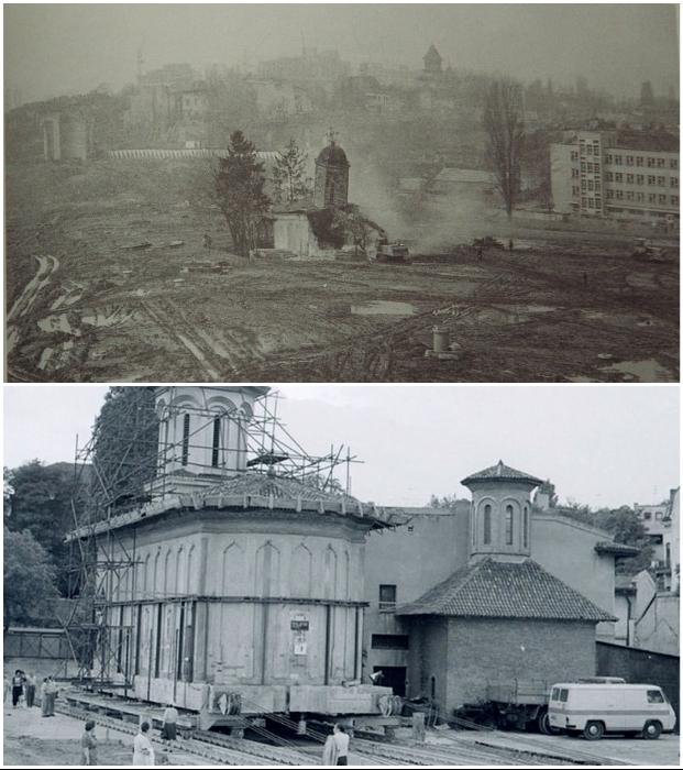 Некоторые храмы и исторические здания уже были разрушены землетрясением, еще несколько удалось перевести на новое место.